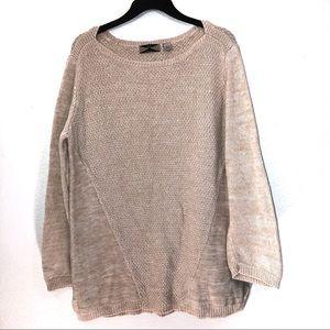 525 America Heathered Knit Oversized Sweater
